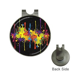 Crazy Multicolored Double Running Splashes Horizon Hat Clips With Golf Markers