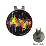 Crazy Multicolored Double Running Splashes Horizon Hat Clips with Golf Markers Front