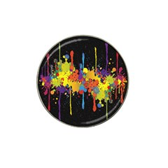 Crazy Multicolored Double Running Splashes Horizon Hat Clip Ball Marker by EDDArt