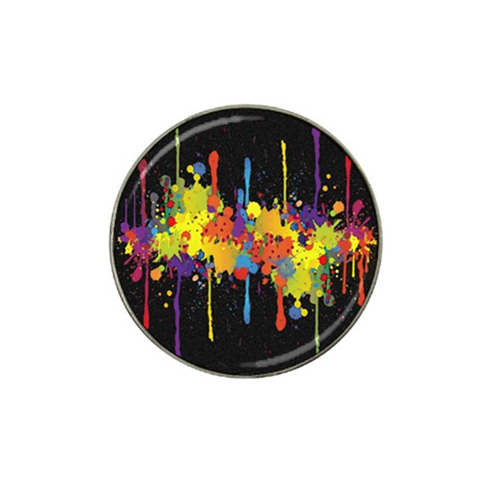 Crazy Multicolored Double Running Splashes Horizon Hat Clip Ball Marker (4 pack)