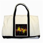 Crazy Multicolored Double Running Splashes Horizon Two Tone Tote Bag