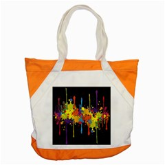 Crazy Multicolored Double Running Splashes Horizon Accent Tote Bag