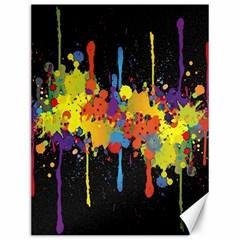 Crazy Multicolored Double Running Splashes Horizon Canvas 12  X 16   by EDDArt