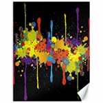 Crazy Multicolored Double Running Splashes Horizon Canvas 18  x 24   24 x18 Canvas - 1