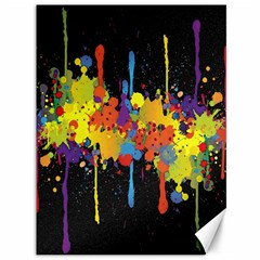 Crazy Multicolored Double Running Splashes Horizon Canvas 36  X 48   by EDDArt