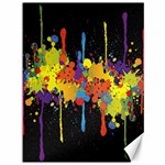 Crazy Multicolored Double Running Splashes Horizon Canvas 36  x 48   48 x36 Canvas - 1