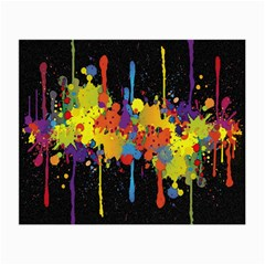 Crazy Multicolored Double Running Splashes Horizon Small Glasses Cloth (2 Side) by EDDArt