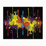 Crazy Multicolored Double Running Splashes Horizon Small Glasses Cloth (2-Side)