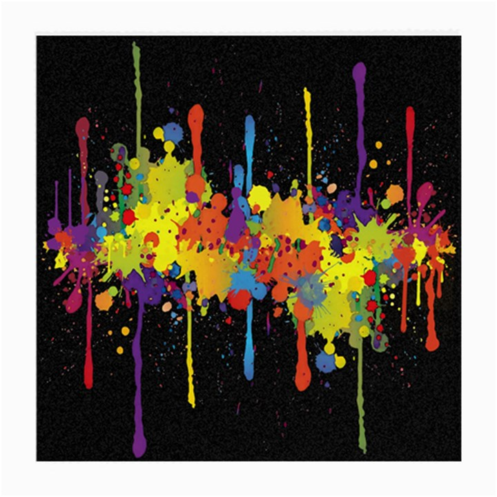 Crazy Multicolored Double Running Splashes Horizon Medium Glasses Cloth (2-Side)