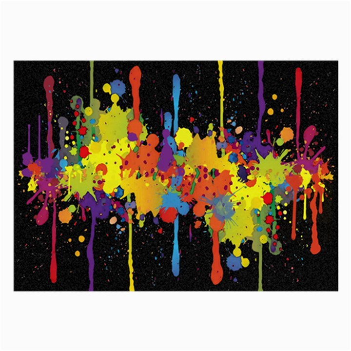 Crazy Multicolored Double Running Splashes Horizon Large Glasses Cloth