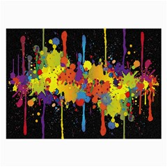 Crazy Multicolored Double Running Splashes Horizon Large Glasses Cloth (2 Side)