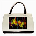 Crazy Multicolored Double Running Splashes Horizon Basic Tote Bag (Two Sides) Back
