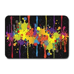 Crazy Multicolored Double Running Splashes Horizon Plate Mats