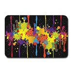 Crazy Multicolored Double Running Splashes Horizon Plate Mats