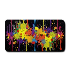 Crazy Multicolored Double Running Splashes Horizon Medium Bar Mats by EDDArt