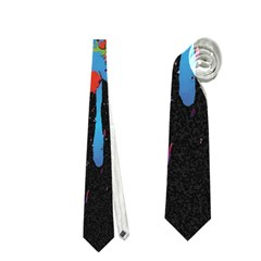 Crazy Multicolored Double Running Splashes Horizon Neckties (one Side)