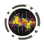 Crazy Multicolored Double Running Splashes Horizon Poker Chip Card Guards