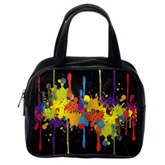 Crazy Multicolored Double Running Splashes Horizon Classic Handbags (one Side) by EDDArt