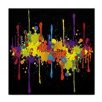 Crazy Multicolored Double Running Splashes Horizon Face Towel Front