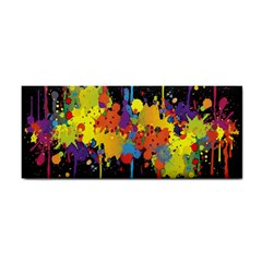Crazy Multicolored Double Running Splashes Horizon Hand Towel by EDDArt