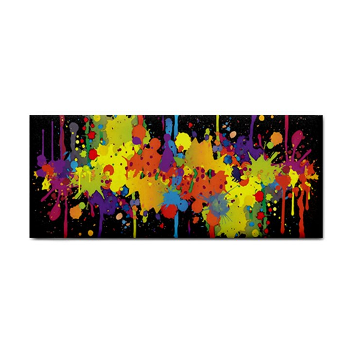 Crazy Multicolored Double Running Splashes Horizon Hand Towel