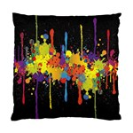 Crazy Multicolored Double Running Splashes Horizon Standard Cushion Case (One Side) Front