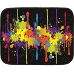 Crazy Multicolored Double Running Splashes Horizon Double Sided Fleece Blanket (Mini)  35 x27 Blanket Front