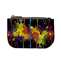 Crazy Multicolored Double Running Splashes Horizon Mini Coin Purses