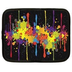 Crazy Multicolored Double Running Splashes Horizon Netbook Case (xxl)  by EDDArt
