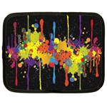 Crazy Multicolored Double Running Splashes Horizon Netbook Case (XXL)  Front