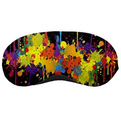 Crazy Multicolored Double Running Splashes Horizon Sleeping Masks by EDDArt
