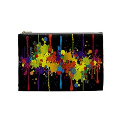 Crazy Multicolored Double Running Splashes Horizon Cosmetic Bag (medium)  by EDDArt
