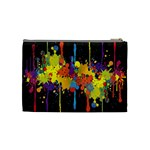 Crazy Multicolored Double Running Splashes Horizon Cosmetic Bag (Medium)  Back