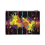 Crazy Multicolored Double Running Splashes Horizon Cosmetic Bag (Large)  Back