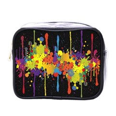 Crazy Multicolored Double Running Splashes Horizon Mini Toiletries Bags by EDDArt