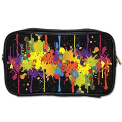 Crazy Multicolored Double Running Splashes Horizon Toiletries Bags 2 Side by EDDArt