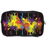 Crazy Multicolored Double Running Splashes Horizon Toiletries Bags 2-Side Front