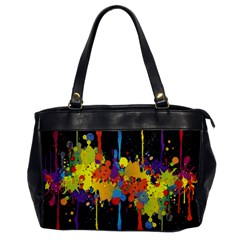 Crazy Multicolored Double Running Splashes Horizon Office Handbags by EDDArt