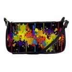 Crazy Multicolored Double Running Splashes Horizon Shoulder Clutch Bags Front