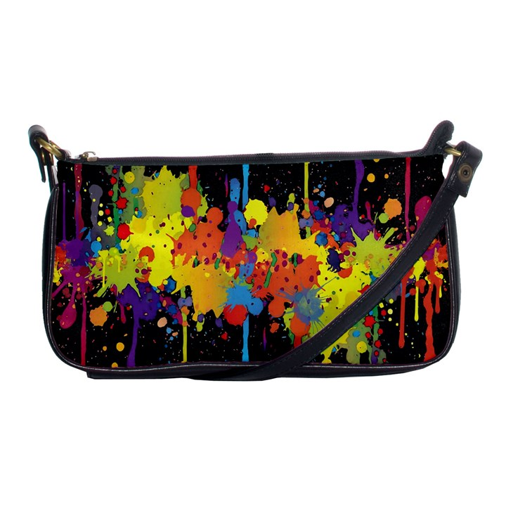 Crazy Multicolored Double Running Splashes Horizon Shoulder Clutch Bags