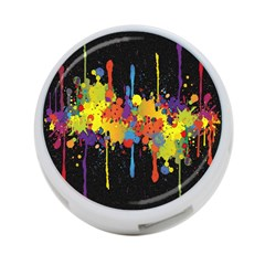 Crazy Multicolored Double Running Splashes Horizon 4 Port Usb Hub (two Sides)  by EDDArt