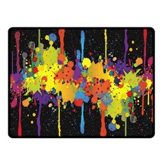 Crazy Multicolored Double Running Splashes Horizon Fleece Blanket (small)
