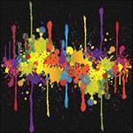 Crazy Multicolored Double Running Splashes Horizon Magic Photo Cubes