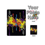 Crazy Multicolored Double Running Splashes Horizon Playing Cards 54 (Mini)  Front - Spade2