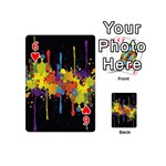Crazy Multicolored Double Running Splashes Horizon Playing Cards 54 (Mini)  Front - Heart6