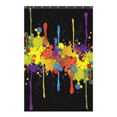 Crazy Multicolored Double Running Splashes Horizon Shower Curtain 48  X 72  (small)  by EDDArt