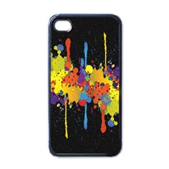 Crazy Multicolored Double Running Splashes Horizon Apple Iphone 4 Case (black) by EDDArt