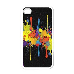 Crazy Multicolored Double Running Splashes Horizon Apple Iphone 4 Case (white) by EDDArt