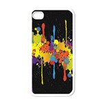 Crazy Multicolored Double Running Splashes Horizon Apple iPhone 4 Case (White) Front