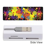 Crazy Multicolored Double Running Splashes Horizon Memory Card Reader (Stick)